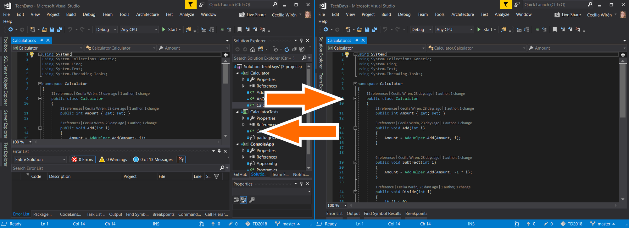 Save Visual Studio layouts and switch between them